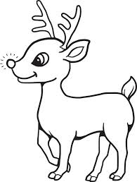 reindeer printable coloring pages