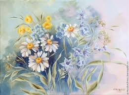 the painting wild flowers