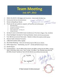 office agenda team meeting agenda notes better homes and gardens real estate gary