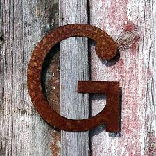 large metal sign letters large metal alphabet letters for wall rustic craft g large vintage metal