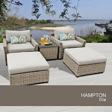hampton 5 piece outdoor wicker patio furniture set 05a