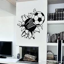sports wall decals for bedrooms removable football broken wall vinyl wall stickers sports wall decals for sports wall decals for bedrooms