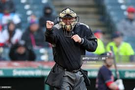 Home plate umpire Jeff Nelson calls a strike during the fifth inning...  News Photo - Getty Images