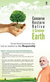 resolving to act responsibly on world environment day