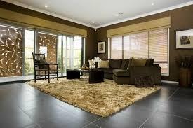 living room tiles dark floor tiles beige carpet color contrast