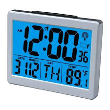 clock that projects time on wall large display atomic alarm clock digital clock projects time wall