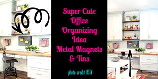 office organizing ideas. Super Cute Office Organizing - Metal Magnets And Tins Photo Credit HGTV \u0026 Joanna Gaines Ideas S