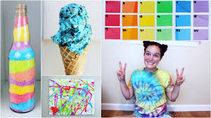 and easy colorful diy summer projects inspired