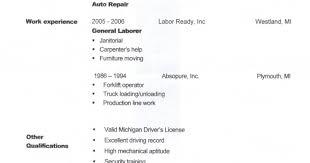 Resume General Labor Eliolera Com