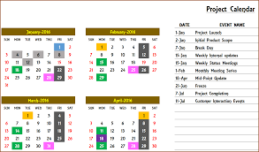 047 Schedule Of Events Template Excel Calendar Or Any Year