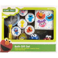 sesame street bath gift set