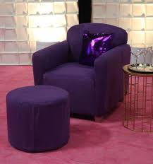 purple rain arm chair small ottoman