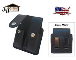 Single Stack Magazine Holder JJ Custom Premium Leather 100 100 Cal Single Stack Double 90
