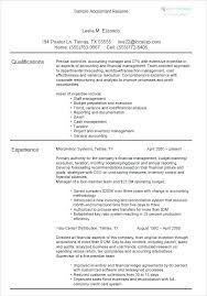 Accounting Resumes Gorgeous Sample Resume For Accounting Manager Position Clerk With No