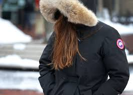 a boston university student walked through campus in her canada goose jacket