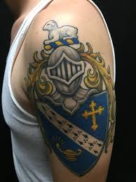 1st Tattoo Alpha Gamma Omega Fraternity Coat Of Arms By Champ At