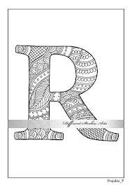 Letter R Kleurplaat Afdrukbare Kleurplaten Kleurplaat Boek Etsy