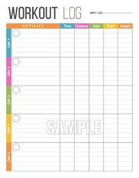 Blank Workout Logs Workout Log Exercise Log Health And Fitness Printable Digital Planner Instant Download Fitness Log Fitness Tracker Fillable Pdf