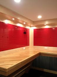 garage tool storage pegboard. a really nice workbench with red metal pegboard panels from wall control. garage tool storage