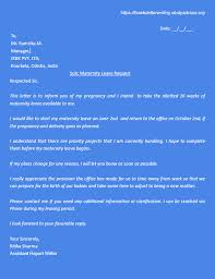 Sample Of Maternity Or Paternity Leave Letter With Pdf