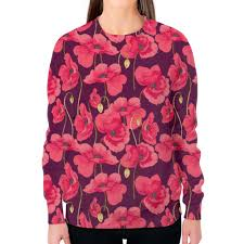Заказать <b>свитшот женский с</b> полной запечаткой Цветы #2596518 ...