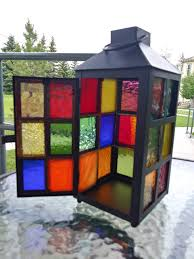 description stained glass lanterns