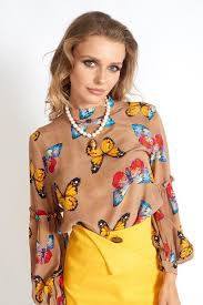 Shop Online <b>Women's</b> Butterfly's Desire <b>100</b>% <b>Silk Blouse</b> | MUSE ...