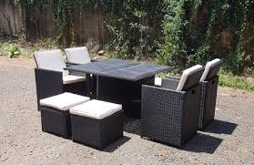 rattan wicker conservatory outdoor garden furniture patio cube table chair set furniture chair set a82 furniture
