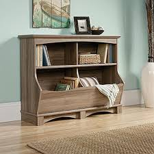 sauder harbor view salt oak bin bookcase