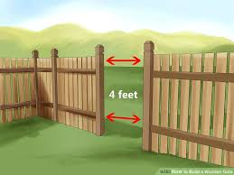 fence gate design. Image Titled Build A Wooden Gate Step 2 Building Fence Gates Designs . Design