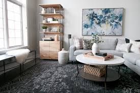other table ideas a family room with a white coffee table and gray sectional