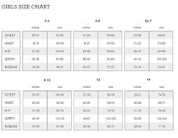 Bloch Girls Size Chart
