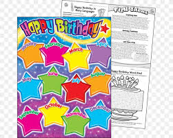 Cheap Chart Paper For Teachers Birthday Chart Teacher Classroom Education Png 1000x800px