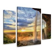 seljalandsfoss waterfall canvas print