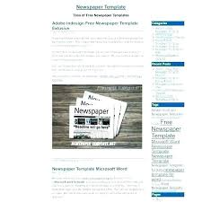 Fake Newspaper Template Word Classroom Newspaper Word Format Template Outline For Old