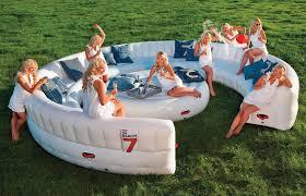 intex inflatable furniture. Massive Inflatable Outdoor Party Sofa - Seats 30 Guests! Intex Furniture