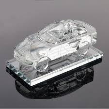 xintou crystal glass car model figurine paperweight mini feng shui