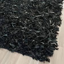 black safavieh leather rug