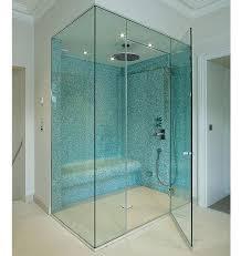 plain swing shower glass door for home
