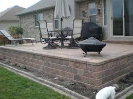 raised patio pavers. Brick Paver Patios Raised Patio Pavers
