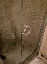 how to clean glass shower doors bar