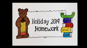Holiday Homework Cover Page Design Design For Holiday Homework Holiday Homework Cover Page Decorative Holiday Homework Project Work