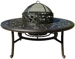 patio furniture fire pit cast aluminum