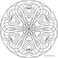 Heart Mandala Coloring Pages Printable L