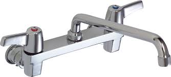 delta 28c4443 chrome double handle 15gpm ceramic disc wallmount faucet less integral stops with lever blade handles and 11 delta wall mount faucet d51