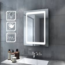 wall mounted led bathroom mirror