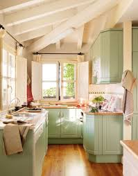 Kitchen, Painted Kitchen Cabinets   Love These Colors Sean Likes Mint   Cause It Is A Green (maybe Mint On The Lower And Cream Uppers)