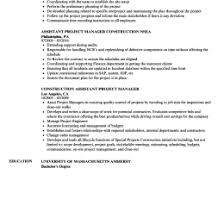 Construction Project Manager Resume 880378005301 Resumes For