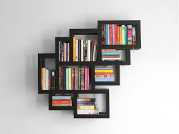 elegant accessories ideas wall bookshelves advantages in home decor and furnishing black wall mounted