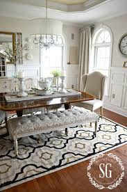 5 rules for choosing the perfect dining room rug dining room stonegableblog com